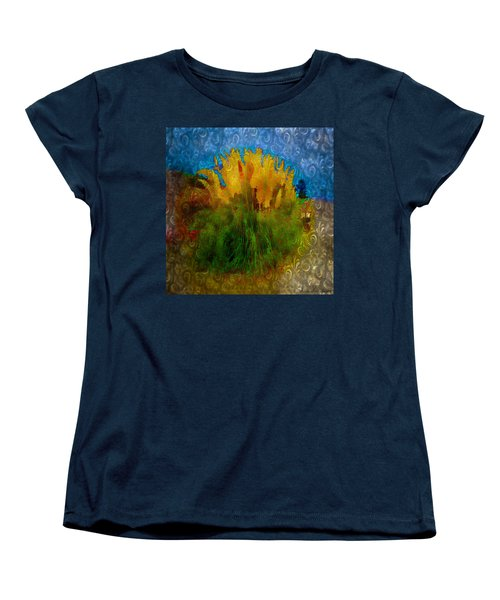 Pampas Grass Women's T-Shirt (Standard Cut) by Iowan Stone-Flowers