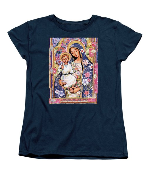 Women's T-Shirt (Standard Cut) featuring the painting Panagia Eleousa by Eva Campbell