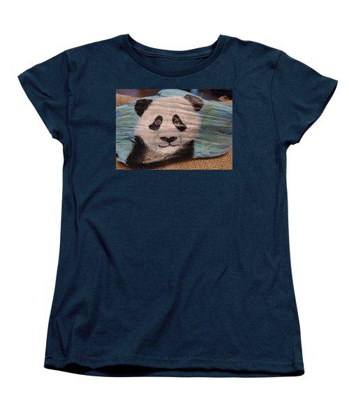 Panda Women's T-Shirt (Standard Cut) by Ann Michelle Swadener