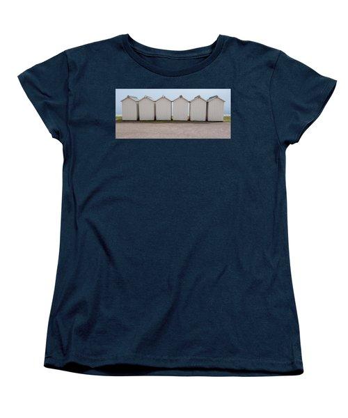 Panoramic Beach Huts Women's T-Shirt (Standard Cut) by Helen Northcott