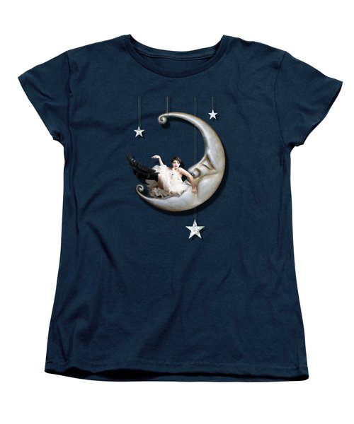 Paper Moon Women's T-Shirt (Standard Cut) by Linda Lees