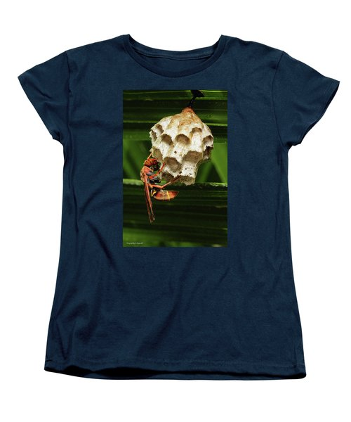 Paper Wasps 00666 Women's T-Shirt (Standard Cut) by Kevin Chippindall