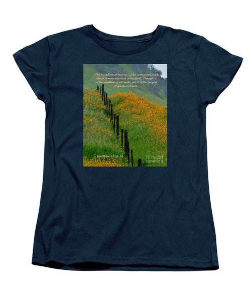 Women's T-Shirt (Standard Cut) featuring the photograph Parable Of The Mustard Seed by Debby Pueschel