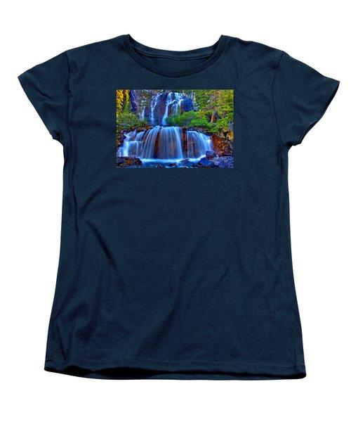 Paradise Falls Women's T-Shirt (Standard Cut) by Scott Mahon