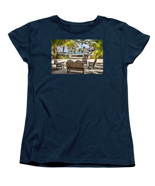 Paradise Women's T-Shirt (Standard Cut) by Lawrence Burry
