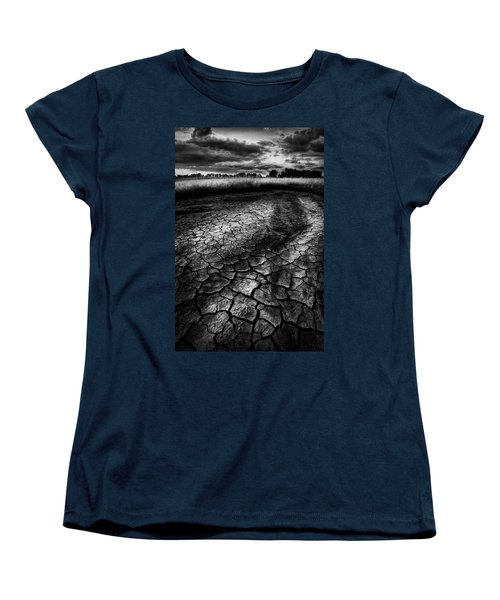 Women's T-Shirt (Standard Cut) featuring the photograph Parched Prairie by Dan Jurak