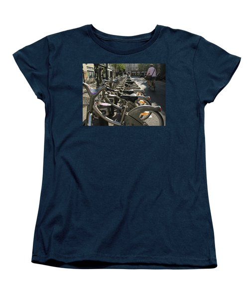 Paris By Bike Women's T-Shirt (Standard Cut) by Yoel Koskas