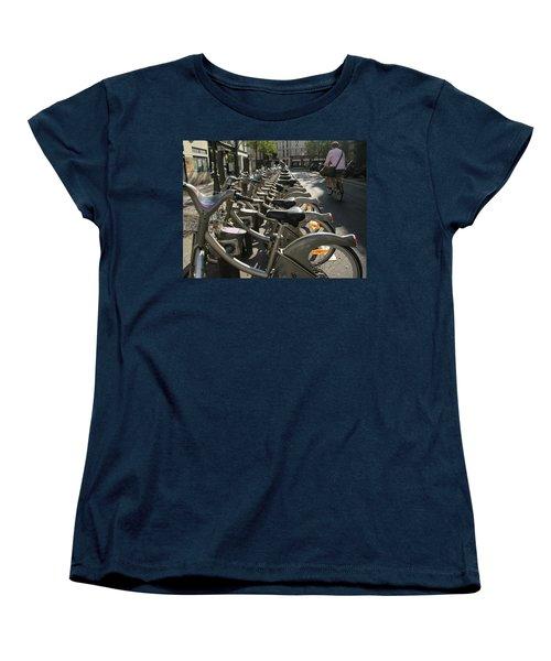Women's T-Shirt (Standard Cut) featuring the photograph Paris By Bike by Yoel Koskas