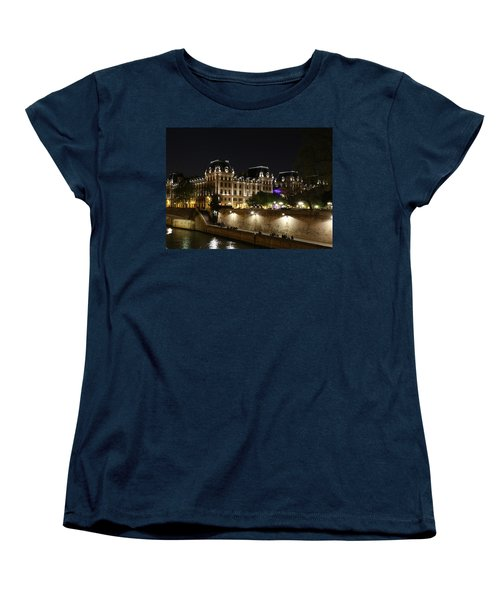 Women's T-Shirt (Standard Cut) featuring the photograph Paris Police Headquarters by Andrew Fare