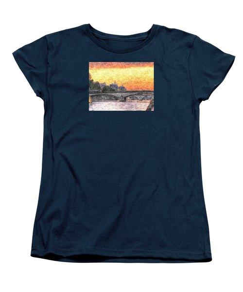 Paris Sunset Women's T-Shirt (Standard Cut) by Yury Bashkin