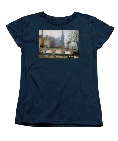 Women's T-Shirt (Standard Cut) featuring the painting Parisian Gray by Gary Coleman