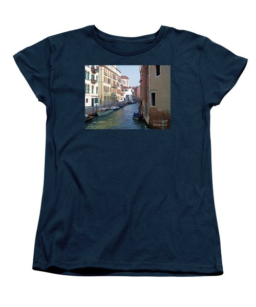Women's T-Shirt (Standard Cut) featuring the photograph Parked In Venice by Roberta Byram