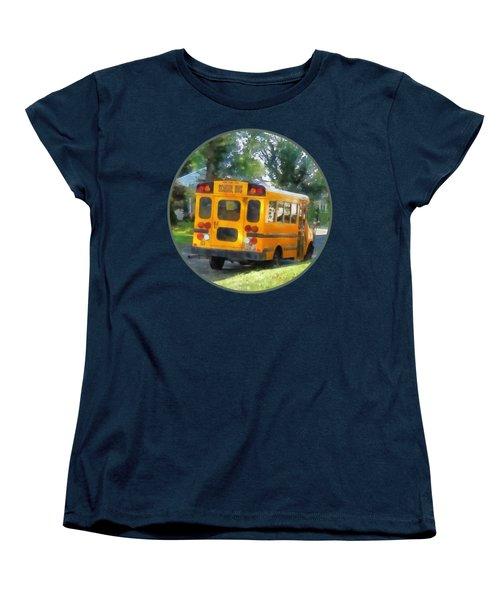 Parked School Bus Women's T-Shirt (Standard Cut) by Susan Savad