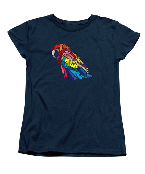 Women's T-Shirt (Standard Cut) featuring the digital art Parrot Beauty by Anthony Mwangi