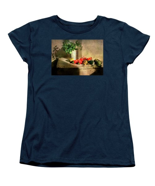 Women's T-Shirt (Standard Cut) featuring the photograph Parsley And Peppers by Diana Angstadt