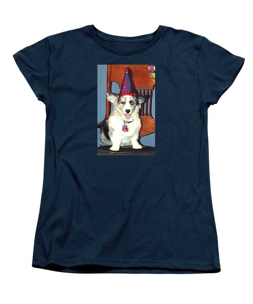 Party Time Dog Women's T-Shirt (Standard Cut) by Cathy Donohoue