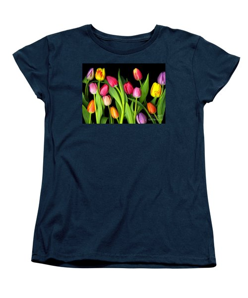Tulips Women's T-Shirt (Standard Cut) by Christian Slanec