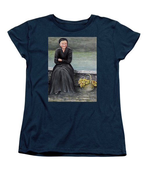 Women's T-Shirt (Standard Cut) featuring the painting Pasqualina Di Scanno by Judy Kirouac