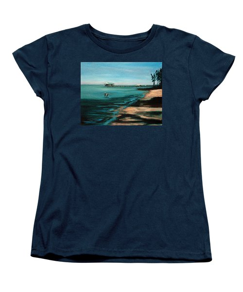 Women's T-Shirt (Standard Cut) featuring the painting Passing By Again by Suzanne McKee