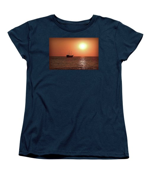 Women's T-Shirt (Standard Cut) featuring the photograph Passing By In Calm Waters by Joan  Minchak