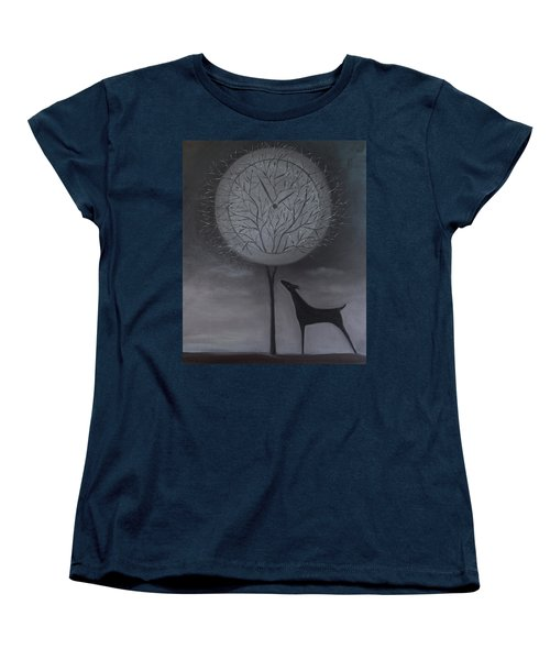 Women's T-Shirt (Standard Cut) featuring the painting Passing Time by Tone Aanderaa