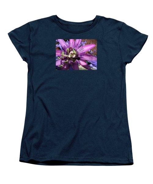 Women's T-Shirt (Standard Cut) featuring the photograph Passion Flower by Jolanta Anna Karolska