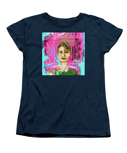 Women's T-Shirt (Standard Cut) featuring the digital art Passport Photo by Sladjana Lazarevic