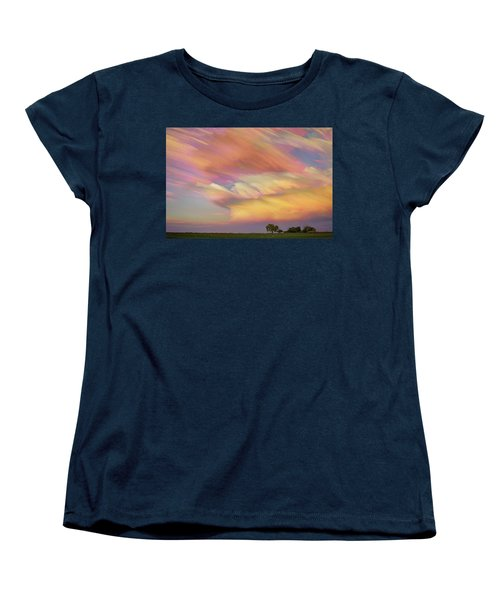 Women's T-Shirt (Standard Cut) featuring the photograph Pastel Painted Big Country Sky by James BO Insogna
