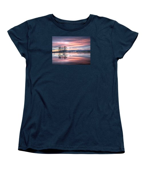 Pastel Sunrise Women's T-Shirt (Standard Cut) by Fiskr Larsen