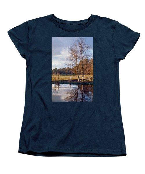 Pasture Pond Women's T-Shirt (Standard Cut) by Laurie Stewart