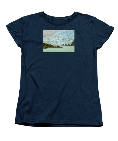 Women's T-Shirt (Standard Cut) featuring the photograph Patagonia Glacier by Alan Toepfer