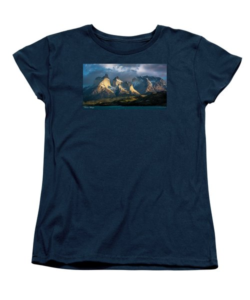 Women's T-Shirt (Standard Cut) featuring the photograph Patagonian Sunrise by Andrew Matwijec