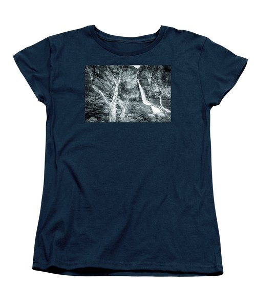 Women's T-Shirt (Standard Cut) featuring the photograph Patagonian Waterfall by Andrew Matwijec