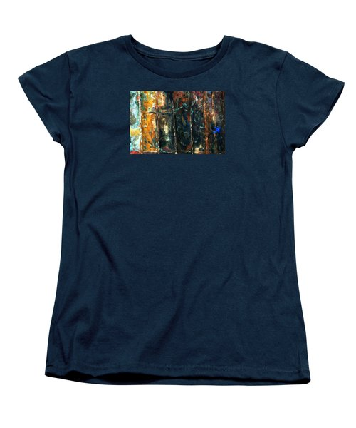 Women's T-Shirt (Standard Cut) featuring the photograph Patchworks 5 by Newel Hunter