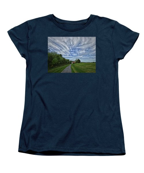 Path Women's T-Shirt (Standard Cut) by Robert Geary