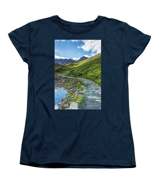 Women's T-Shirt (Standard Cut) featuring the photograph Path To Snowdon by Ian Mitchell
