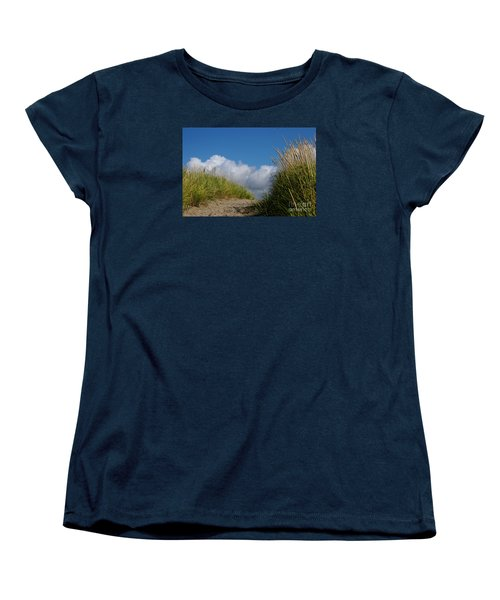 Women's T-Shirt (Standard Cut) featuring the photograph Path To The Beach by Jeanette French