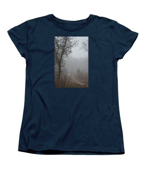 Women's T-Shirt (Standard Cut) featuring the photograph Pathway In The Fogs Of Life by Carolina Liechtenstein