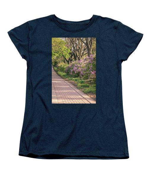 Pathway To Beauty In Lombard Women's T-Shirt (Standard Cut) by Joni Eskridge