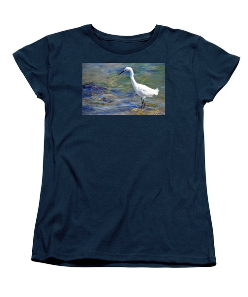 Patient Egret Women's T-Shirt (Standard Cut) by AJ Schibig