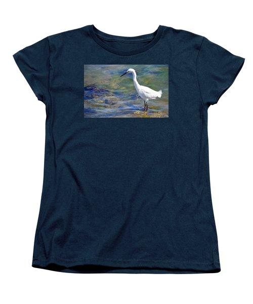 Patient Egret Women's T-Shirt (Standard Cut)