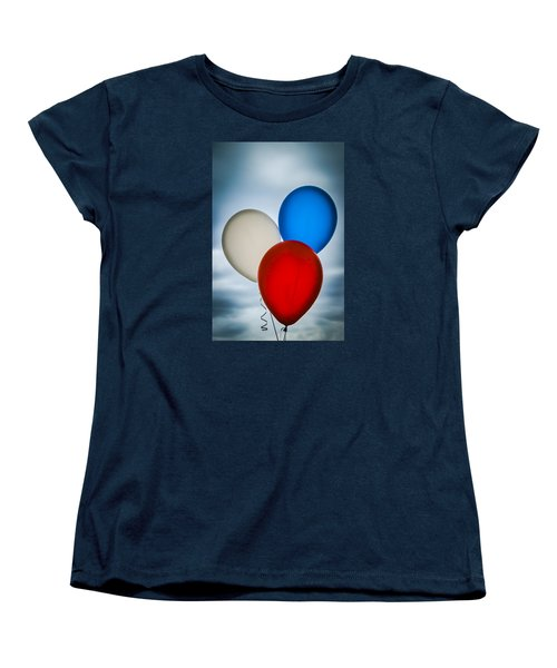 Women's T-Shirt (Standard Cut) featuring the photograph Patriotic Balloons by Carolyn Marshall