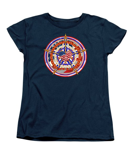 Patriotic For You America Where It Loud And Proud Women's T-Shirt (Standard Cut) by Bill Campitelle