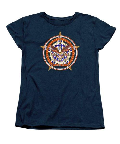 Patroitic-veteran Women's T-Shirt (Standard Cut) by Bill Campitelle