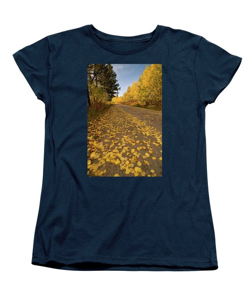 Women's T-Shirt (Standard Cut) featuring the photograph Paved In Gold by Steve Stuller