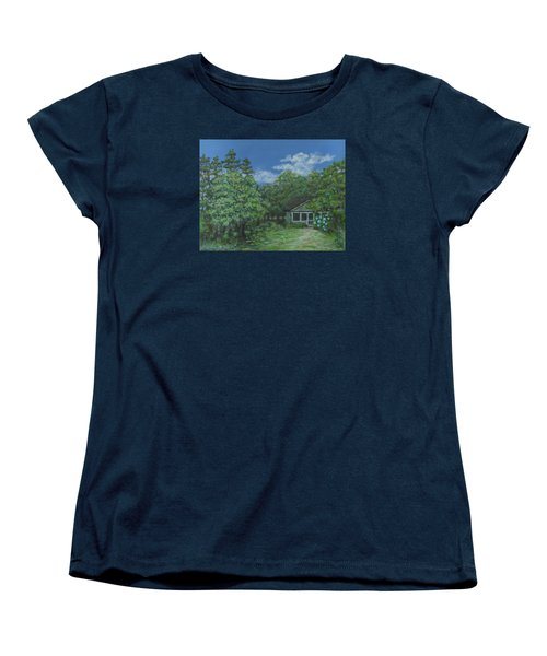 Women's T-Shirt (Standard Cut) featuring the painting Pawleys Island Blue by Kathleen McDermott