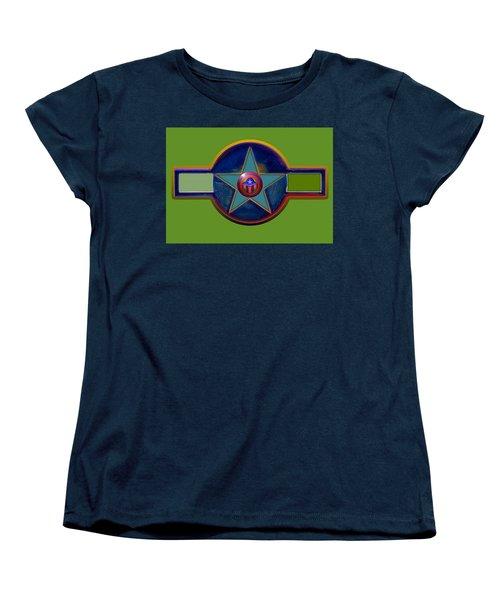 Women's T-Shirt (Standard Cut) featuring the digital art Pax Americana Decal by Charles Stuart