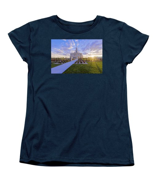 Women's T-Shirt (Standard Cut) featuring the photograph Payson Temple I by Chad Dutson