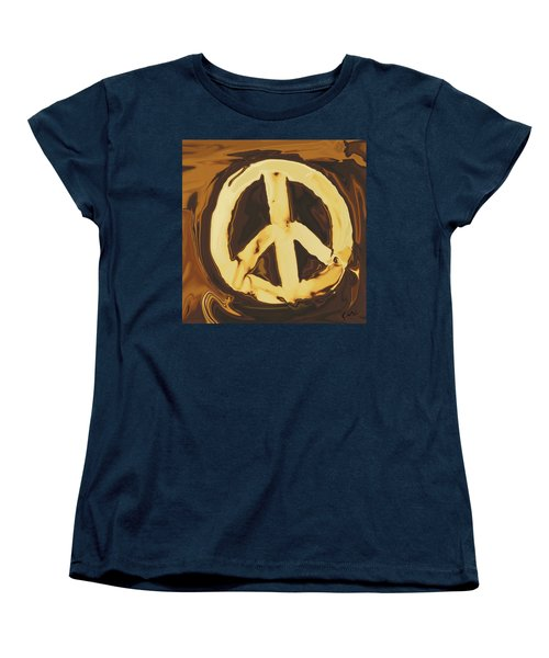 Peace 2 Women's T-Shirt (Standard Cut) by Rabi Khan