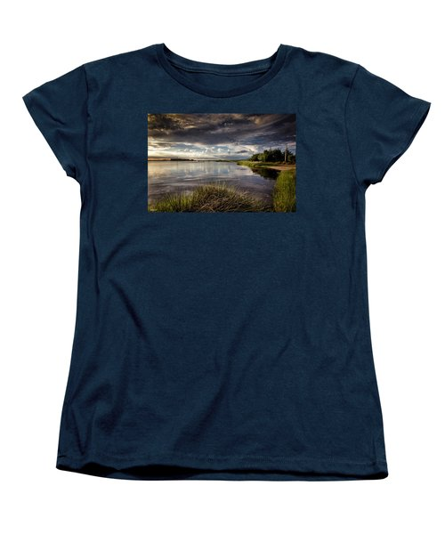 Women's T-Shirt (Standard Cut) featuring the digital art Peace Along The Cape Fear by Phil Mancuso